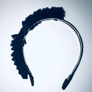 Navy Ribbon Headband